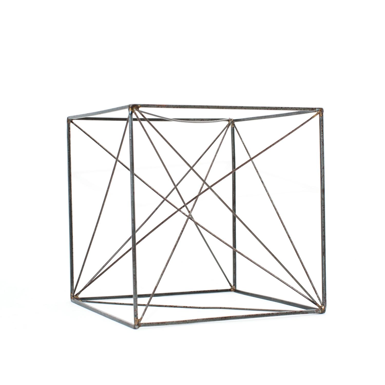 cube sculpture model - gold leaf design