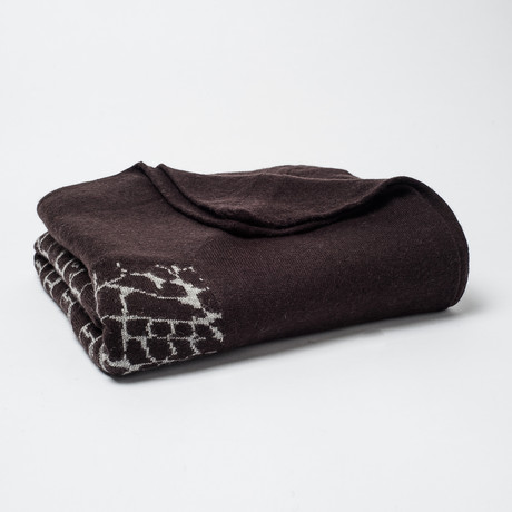 Cashmere Blend Throw // Crocodile