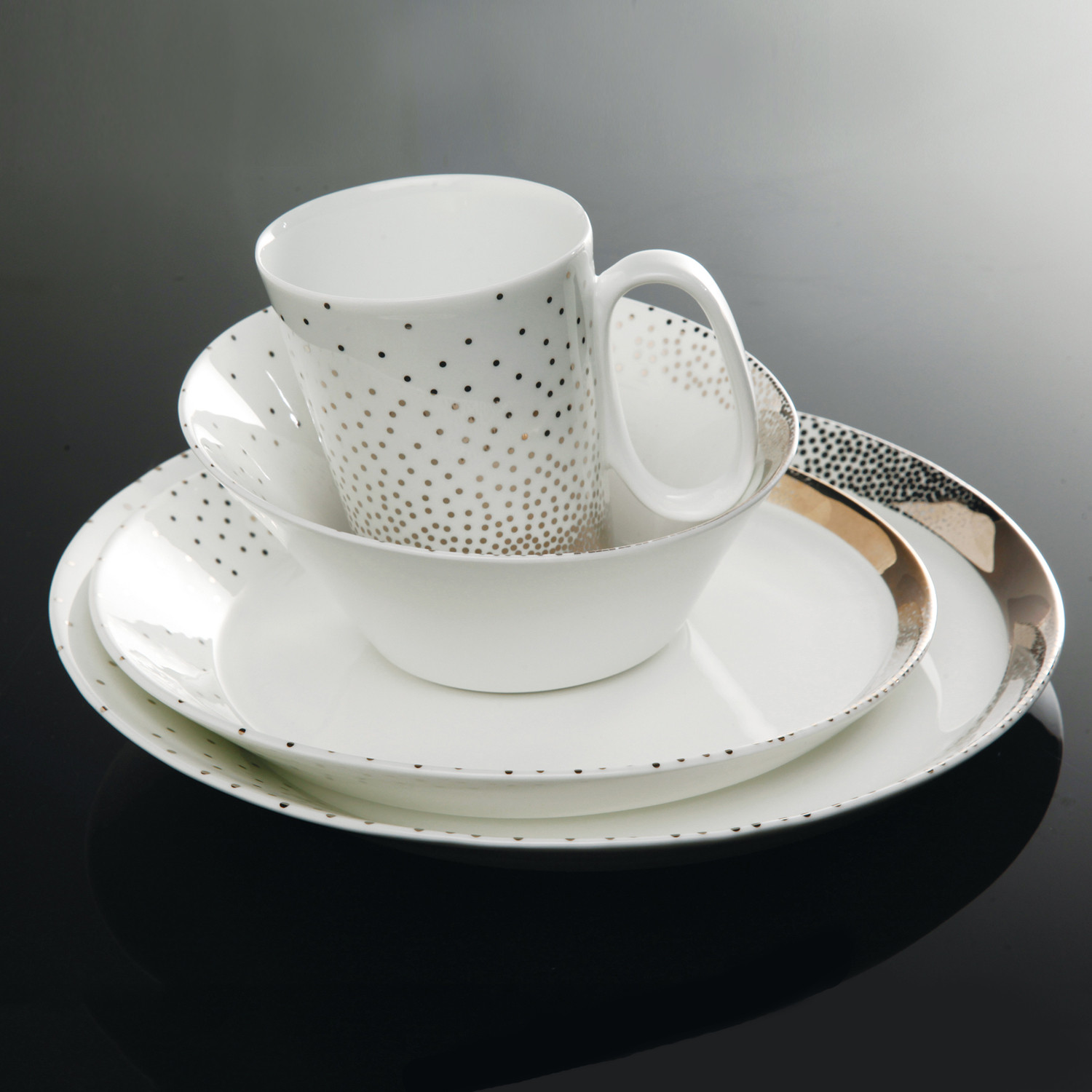 Nambé Tilt Dazzle Dinnerware // 4pc Set & Nambé Tilt Dazzle Dinnerware // 4pc Set - Nambé Dinnerware - Touch ...