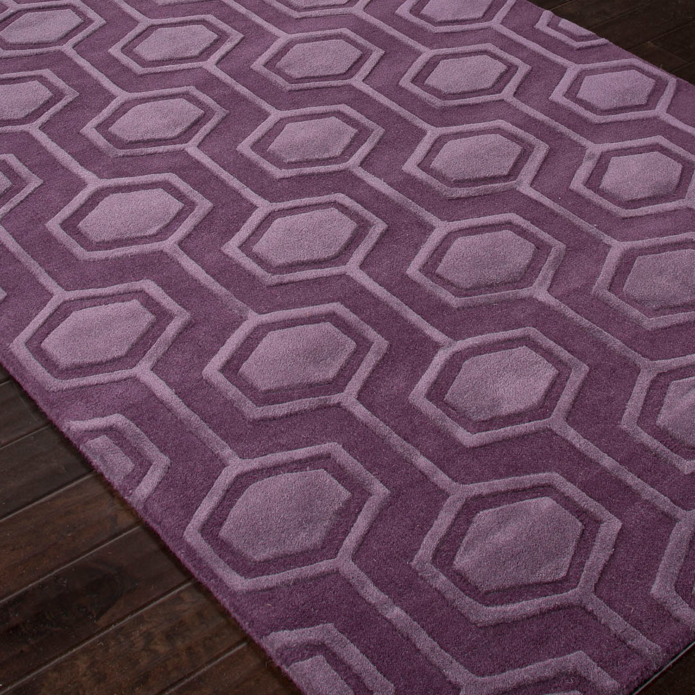 Hand Tufted Looped Amp Cut Wool Purple 5 X 8 Jaipur