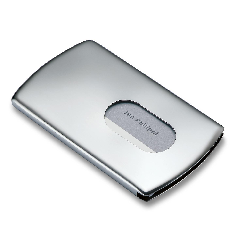 Nick business card dispenser silver philippi touch of modern nick business card dispenser silver colourmoves