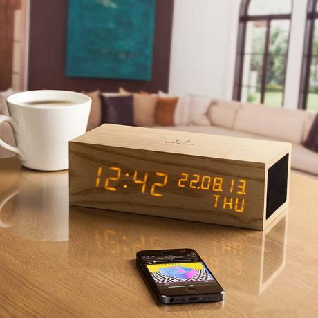 Music Click Clock // Oak
