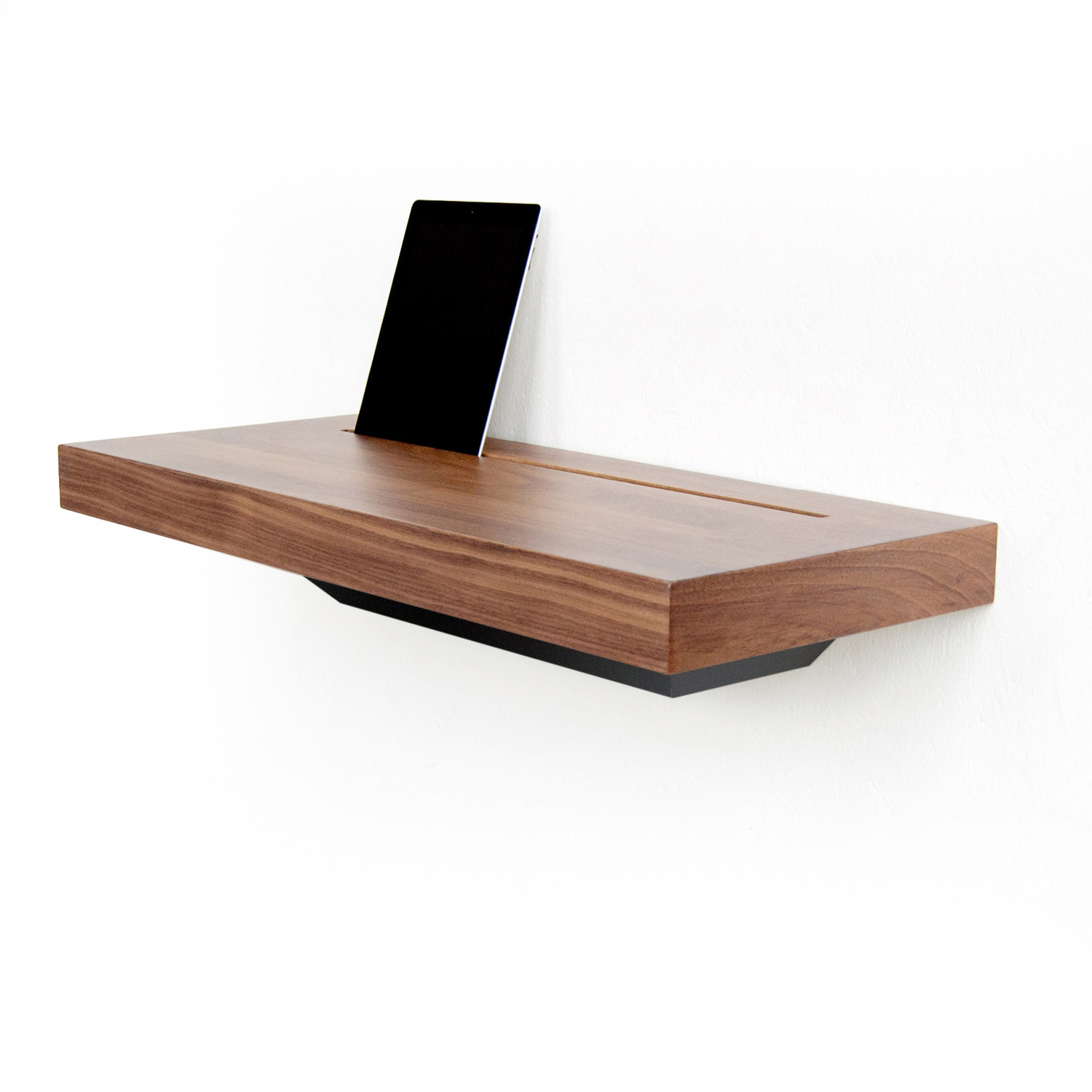 stage interactive shelf walnut black spell touch