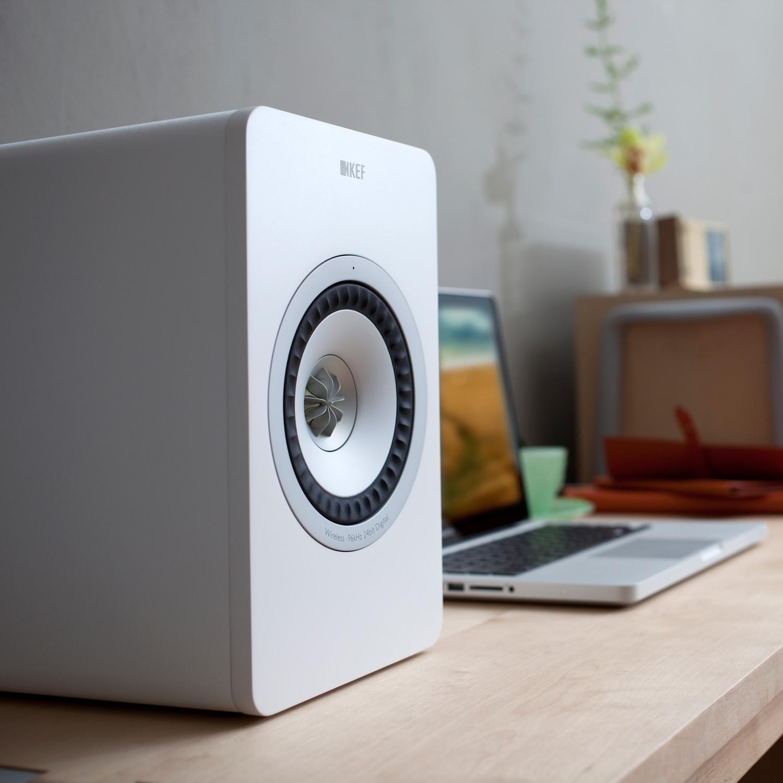 Modern Hifi kef x300aw digital hifi wireless speakers set of 2