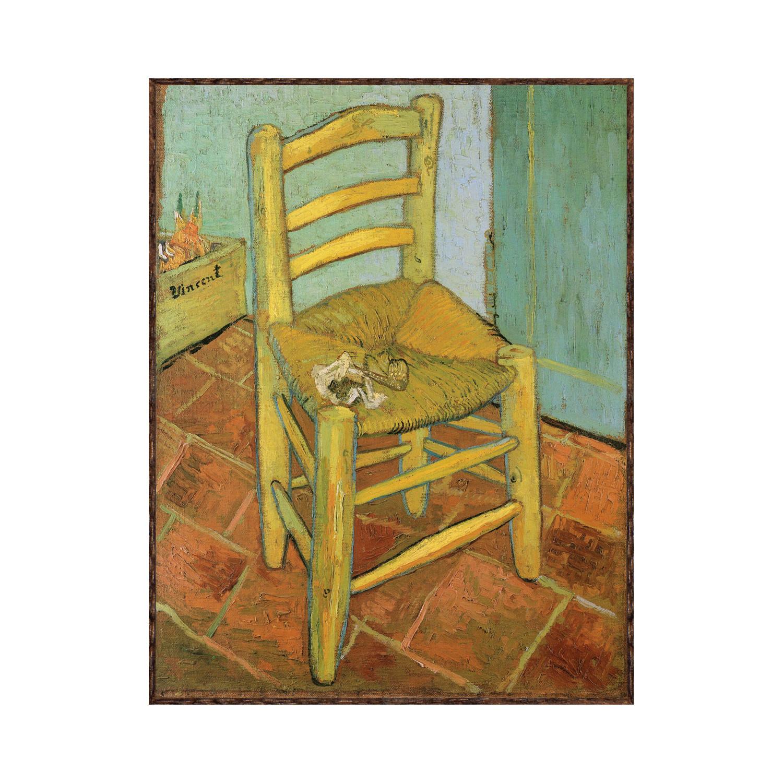 Wooden Bedroom Bench Van Gogh Bedroom Art Bedroom Ceiling Light Fixtures Kids Bedroom Curtains Design: Van Gogh's Chair