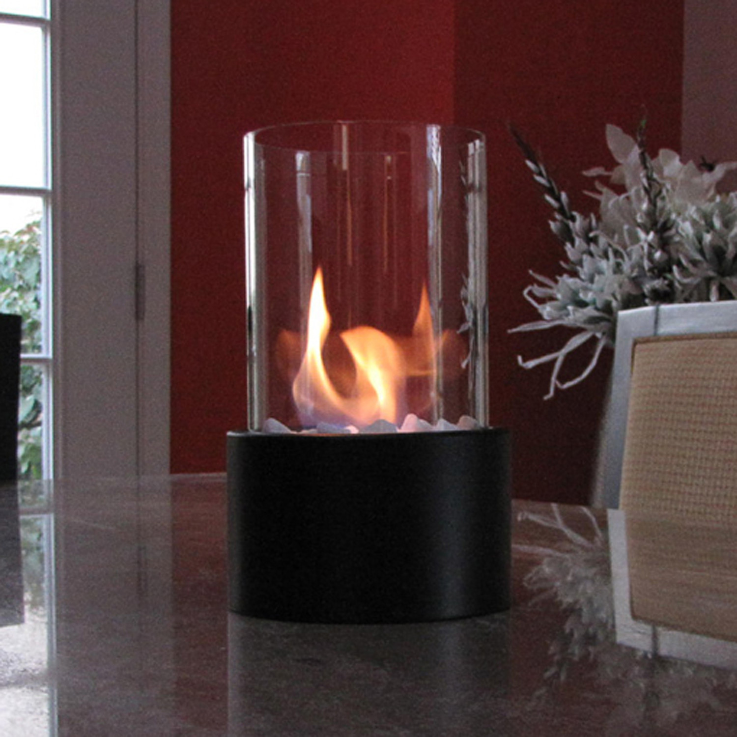 Tabletop Fireplace Black