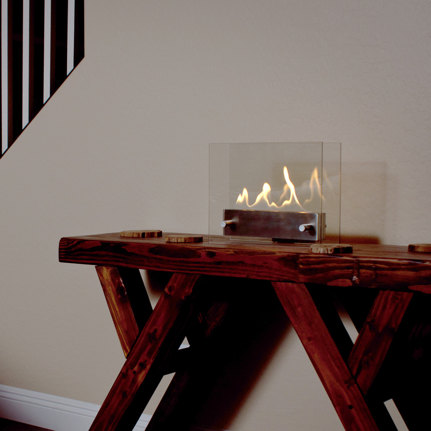 tabletop fireplace  stainless steel  utopia fire  touch of modern - tabletop fireplace  stainless steel