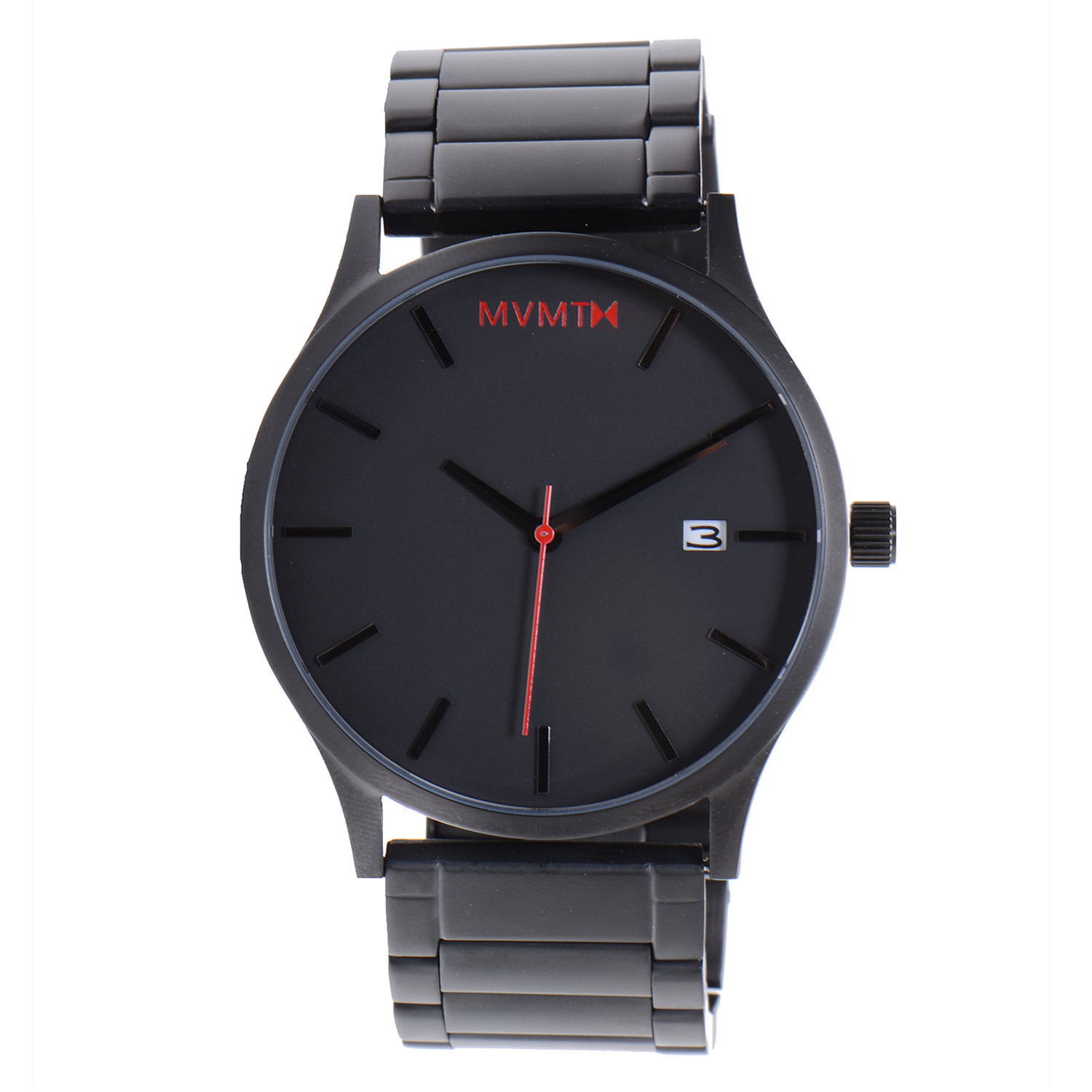 Mvmt watch black face black stainless steel bracelet mvmt watches touch of modern for Wacthes mvmt
