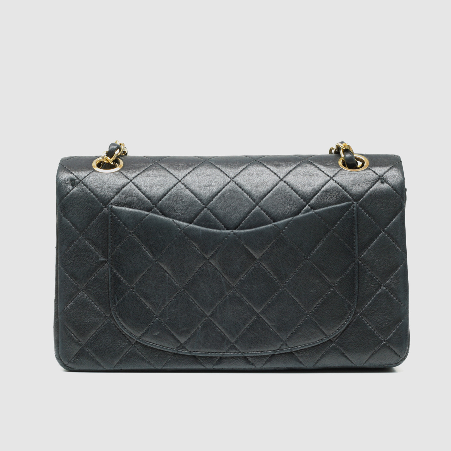 Chanel Small Flap Bag Black Quilted Lambskin Vintage