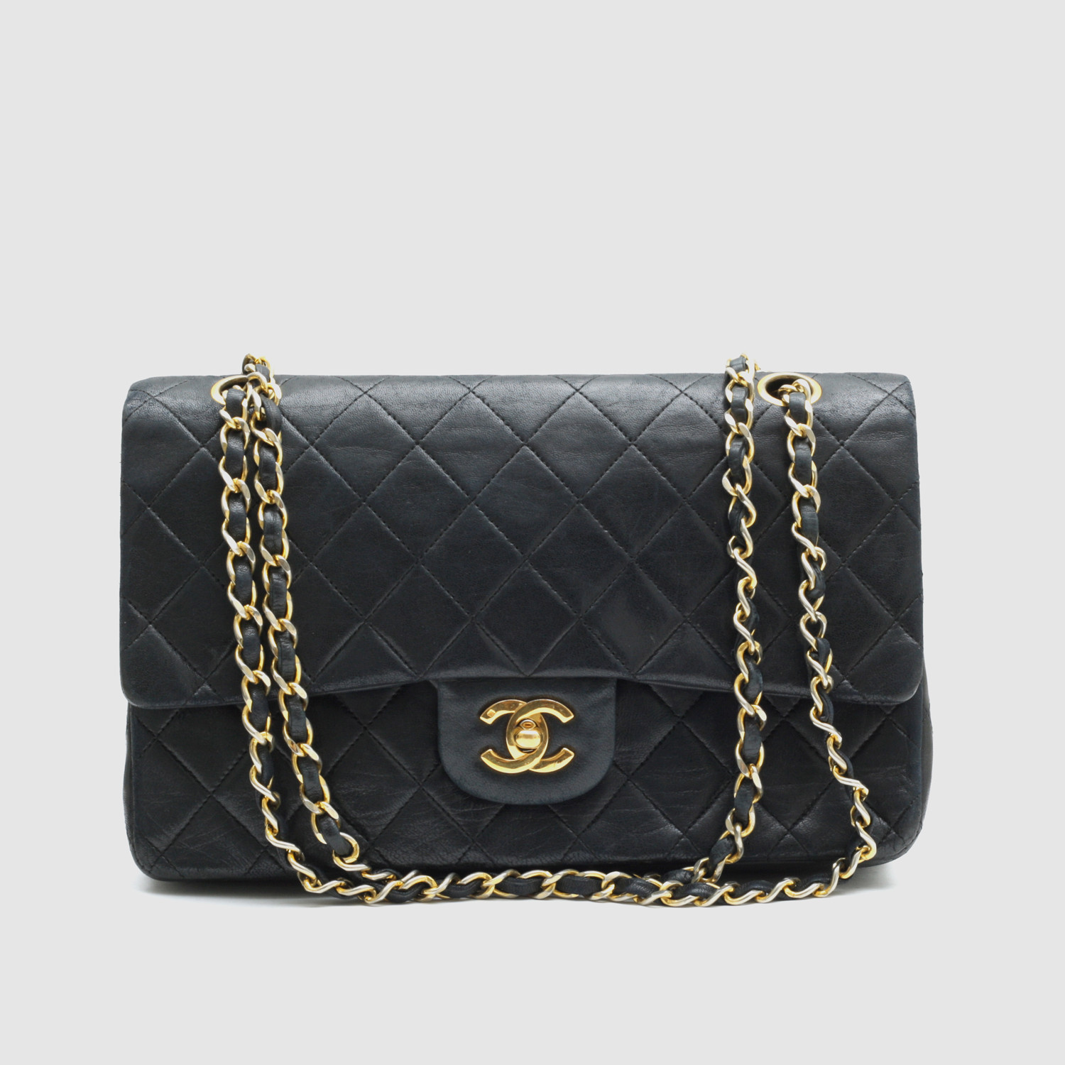 8824568dab86 Chanel Classic Flap Bag    Black Quilted Lambskin - Vintage Luxury ...