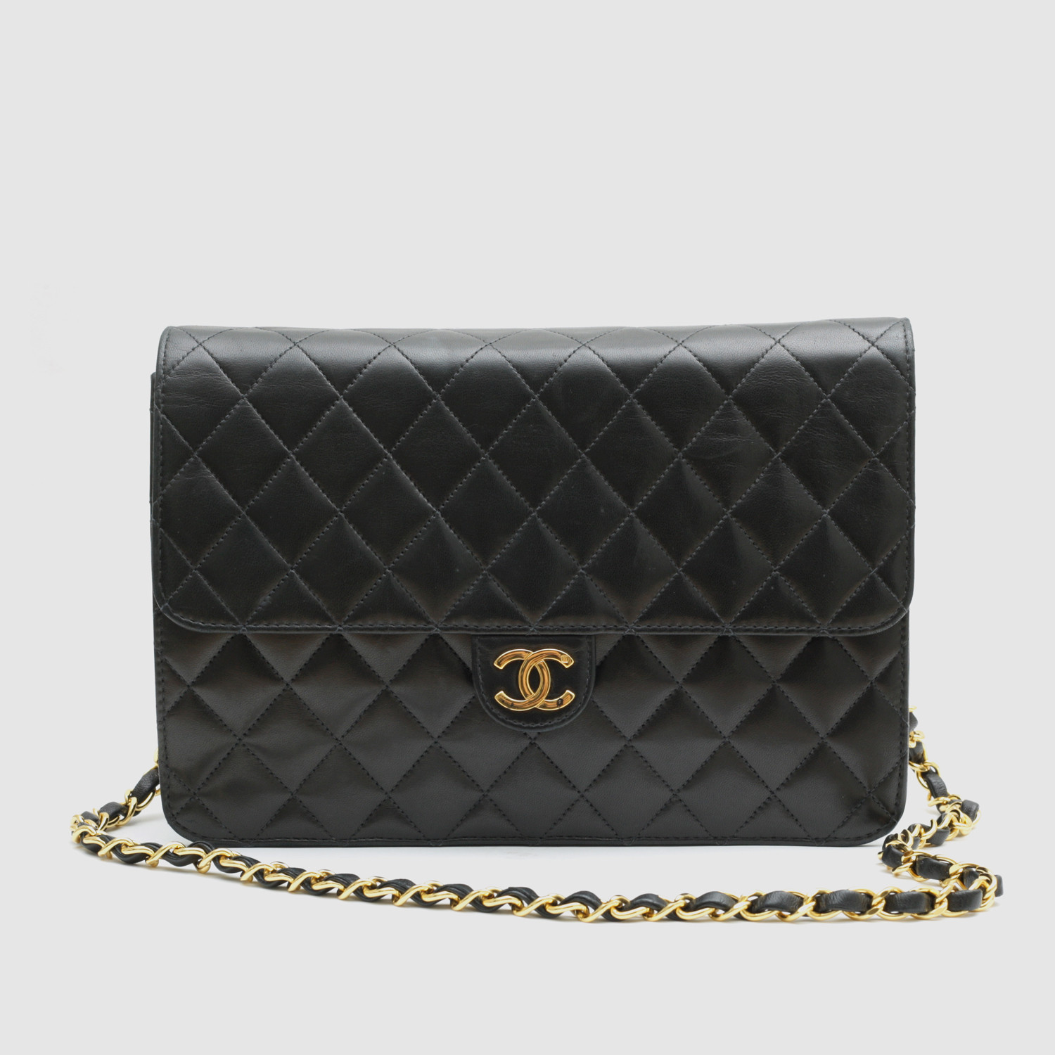 Chanel Flap Bag Black Quilted Leather