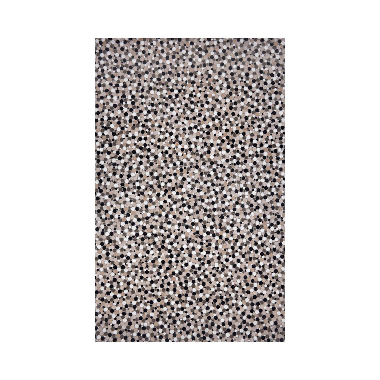 Dots Rug Black White 24 L X
