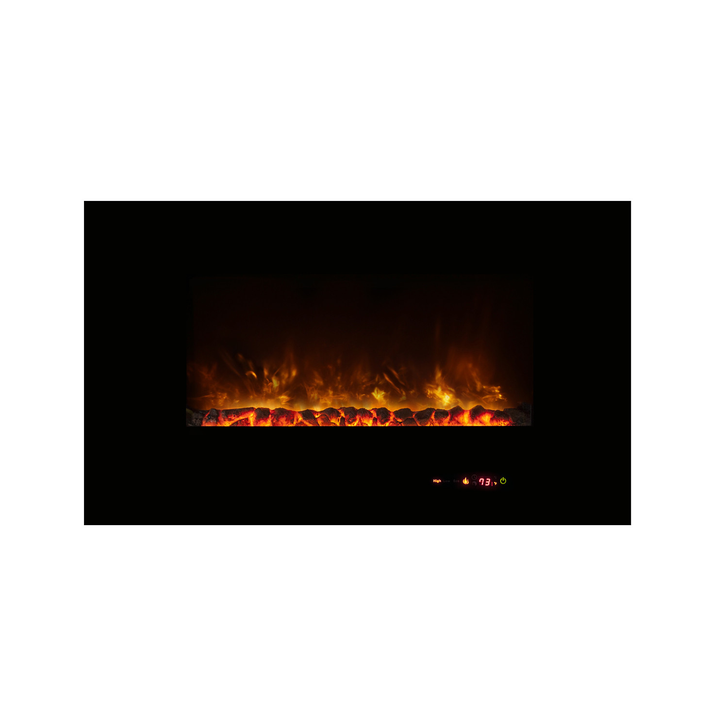 ambiance linear wall mount electric fireplace 43