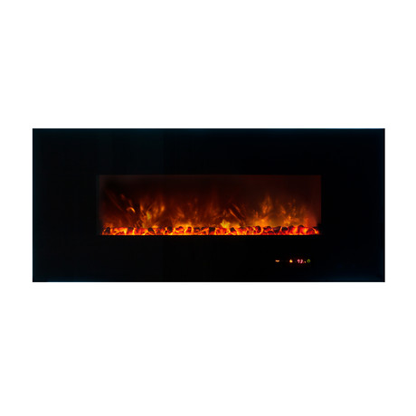 Ambiance Linear Wall Mount Electric Fireplace 58 Modern Flames Touch Of Modern