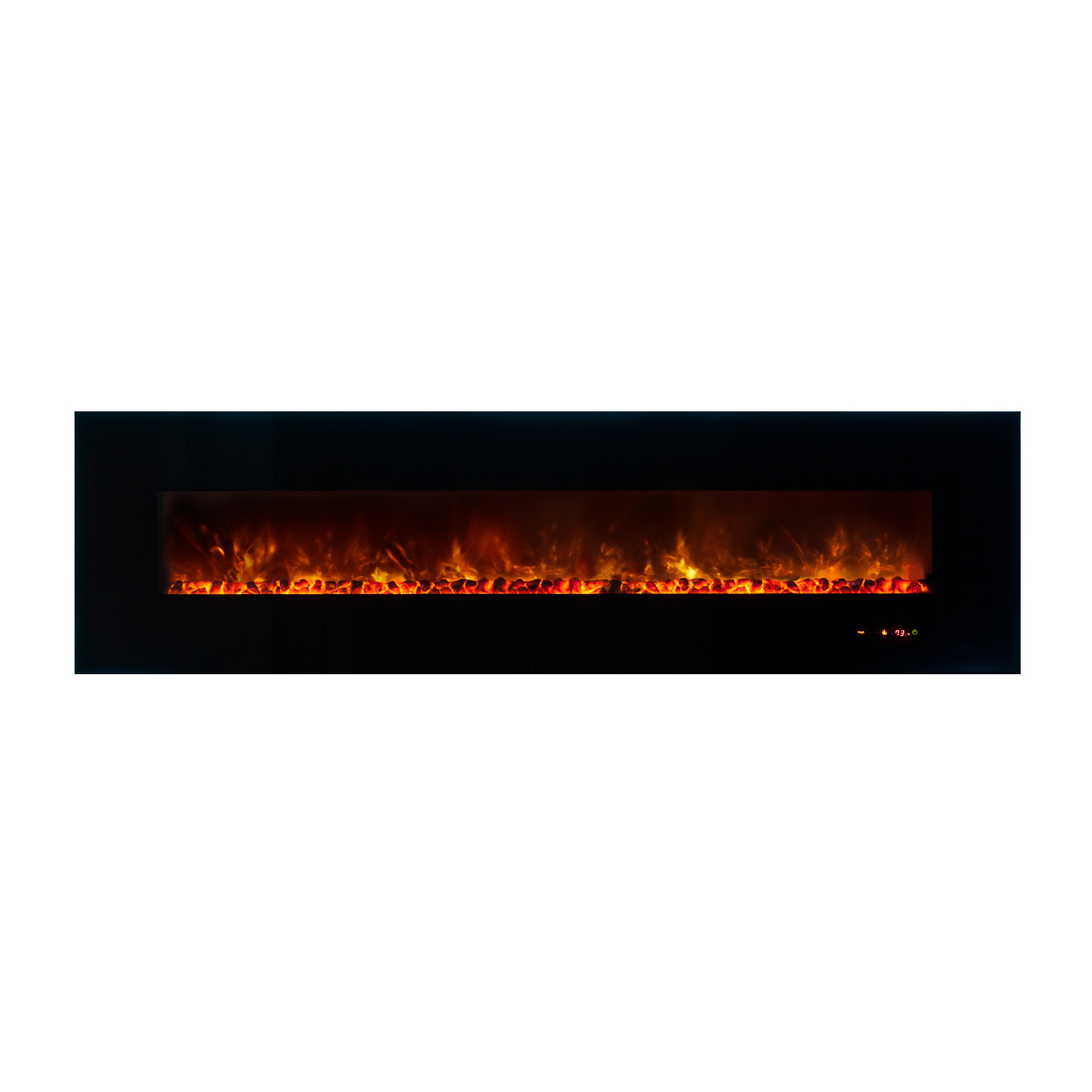 Ambiance Linear Wall Mount Electric Fireplace 95 Modern Flames Touch Of Modern
