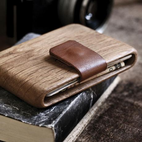 Oak Wallet (Brown Leather)