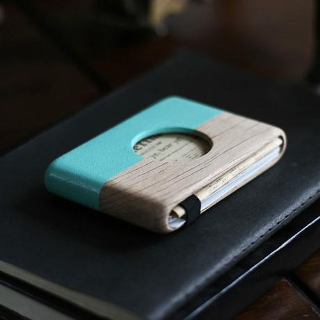 Oak Hole Wallet (Blue)