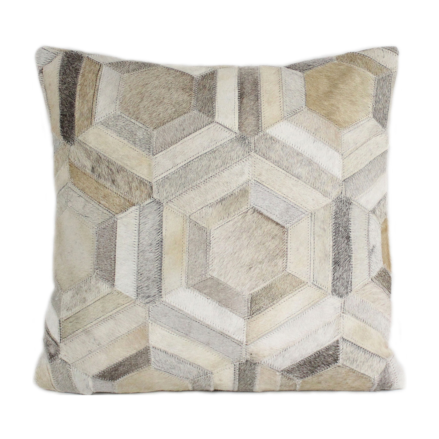 Parquet // Grey // Cowhide Pillow - Bashian - Touch of Modern