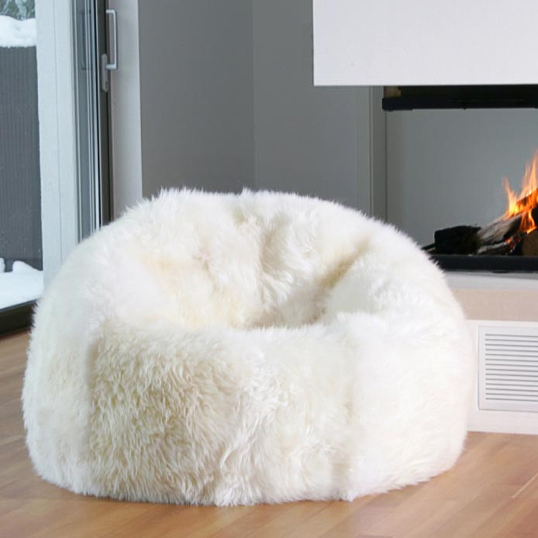 Pleasing Longwool Beanbag Chair Ivory Auskin Touch Of Modern Alphanode Cool Chair Designs And Ideas Alphanodeonline
