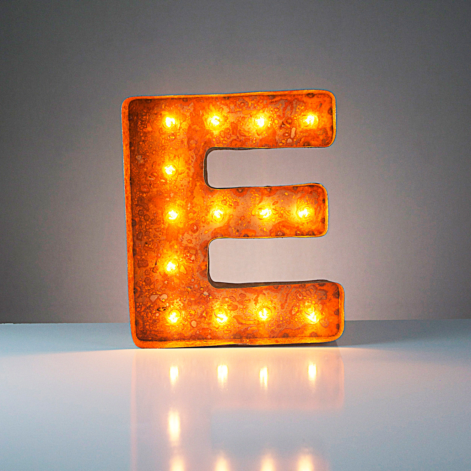 Letter E Vintage Marquee Lights Touch Of Modern