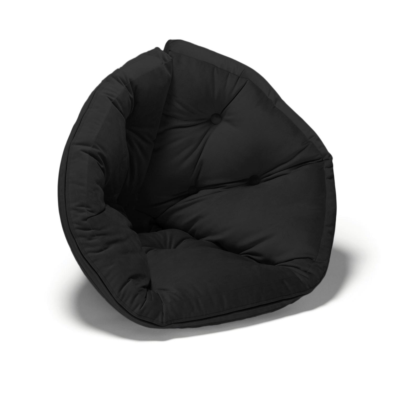 Ja Cabbagetown Round Futon Chair Black