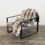 "Fur Throw // Snow Leopard (52""L x 65""W)"