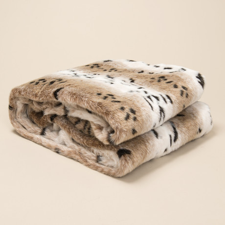 Fur Throw // Snow Leopard
