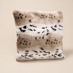 """Fur Pillow // Snow Leopard (14""""L x 20""""W)"""