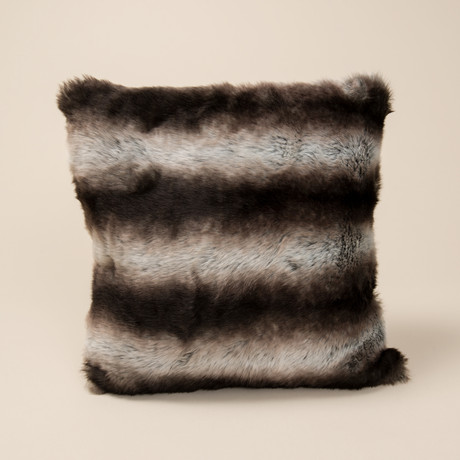 "Chinchilla Luxe Pillow // Smokey Gray (14""L x 20""W)"