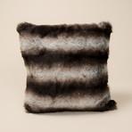 "Chinchilla Luxe Pillow // Smokey Gray (14""L x 20""W)"