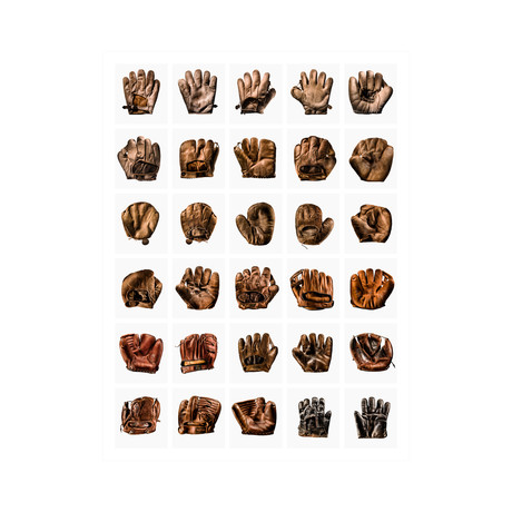 "30 Up Baseball Glove Grid (12"" x 16"")"