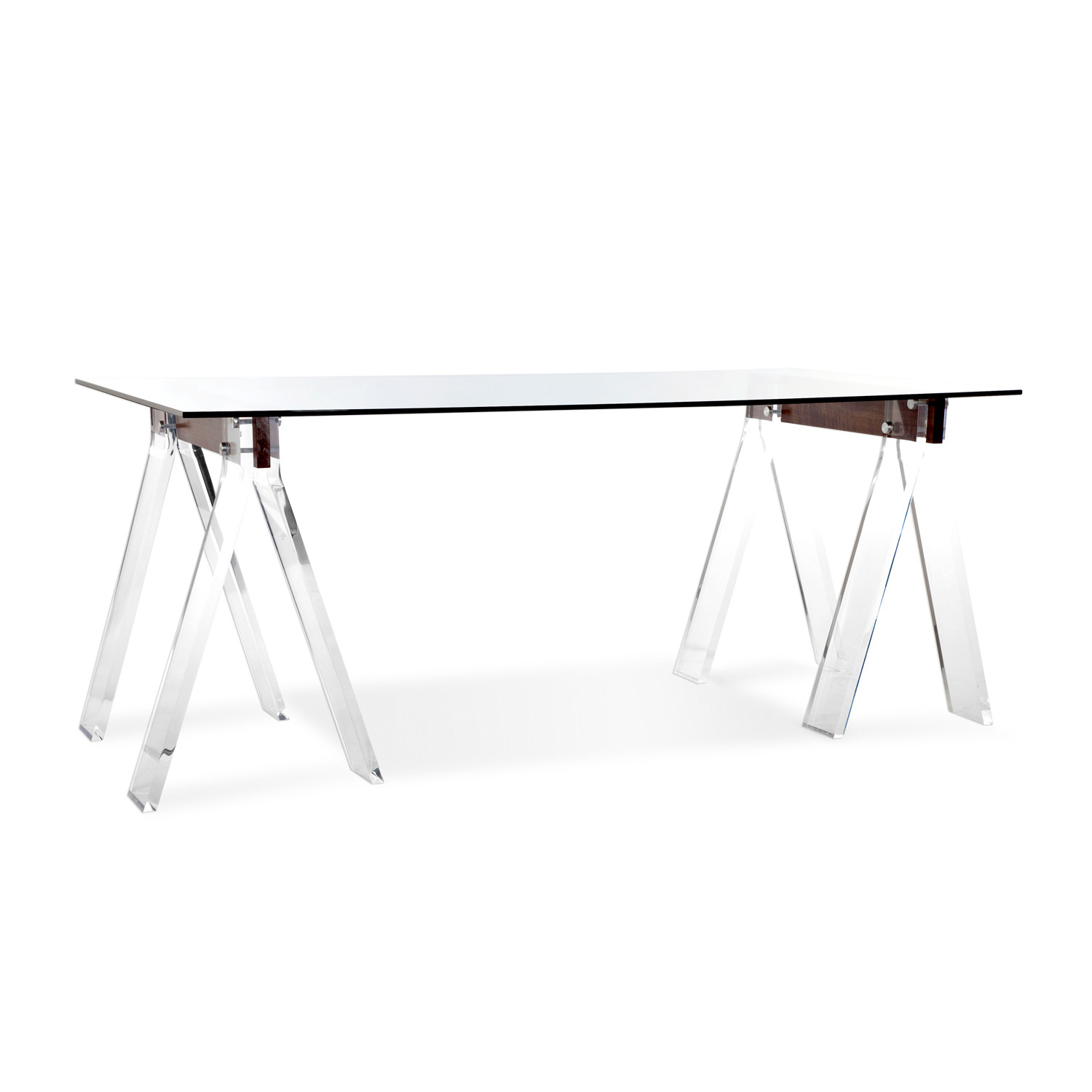 muse trestle desk walnut
