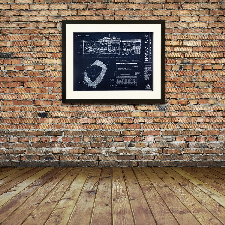 Fenway Park Boston Red Sox Ballpark Blueprints Touch Of Modern