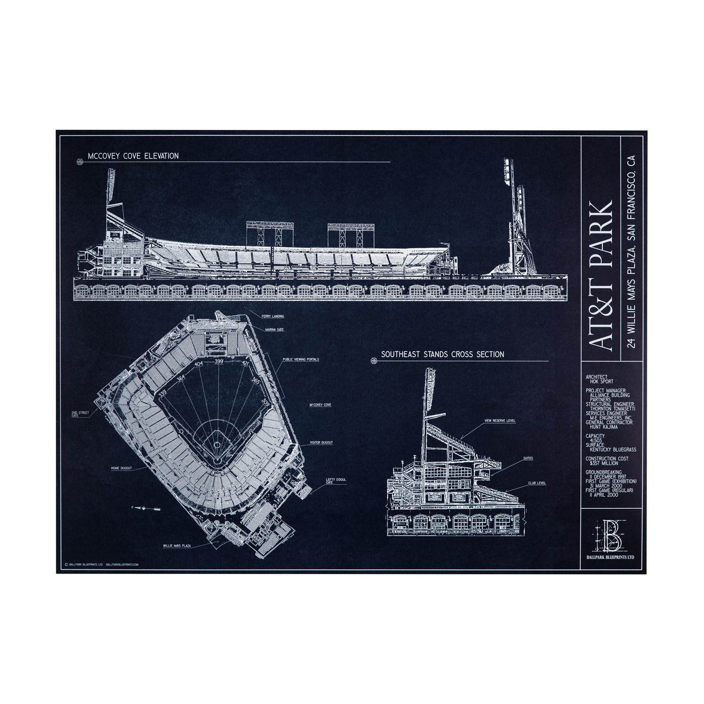 Att park san francisco giants ballpark blueprints touch of att park san francisco giants ballpark blueprints touch of modern malvernweather Image collections