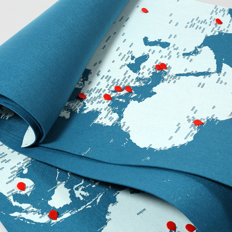 Pin World Map Light Blue Mini Palomar Touch Of Modern