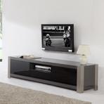 Coordinator TV Stand (Walnut + Stainless Steel)