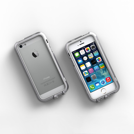 iPhone 5/5S Case // Silver + Grey