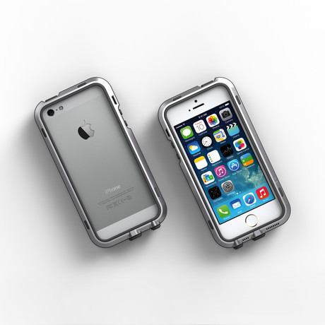 iPhone 5/5S Case // Silver + Black