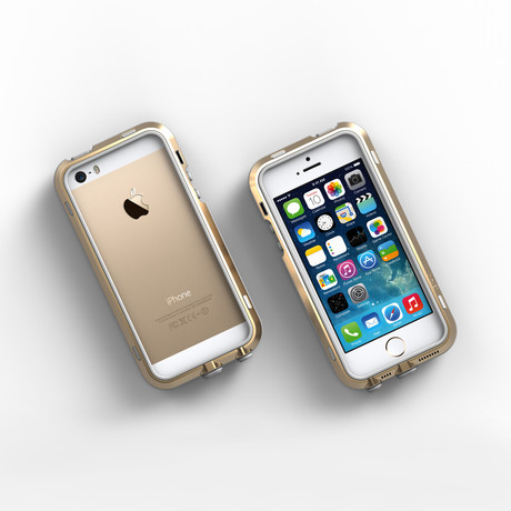 iPhone 5/5S Case // Gold + Grey