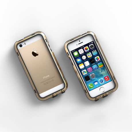 iPhone 5/5S Case // Gold + Black
