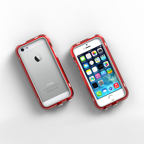 iPhone 5/5S Case // Red + Grey