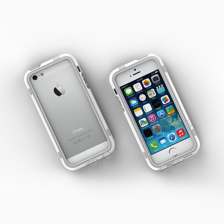 iPhone 5/5S Case // White + Grey