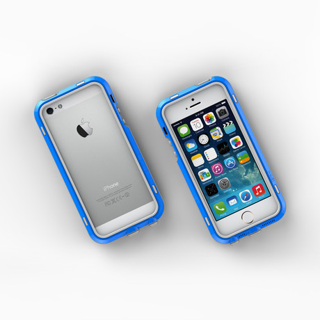 iPhone 5/5S Case // Blue + Grey