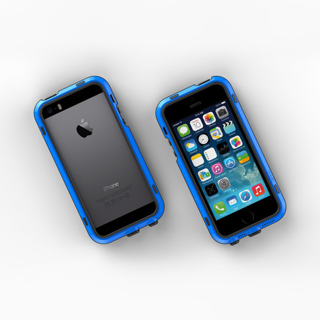 iPhone 5/5S Case // Blue + Black