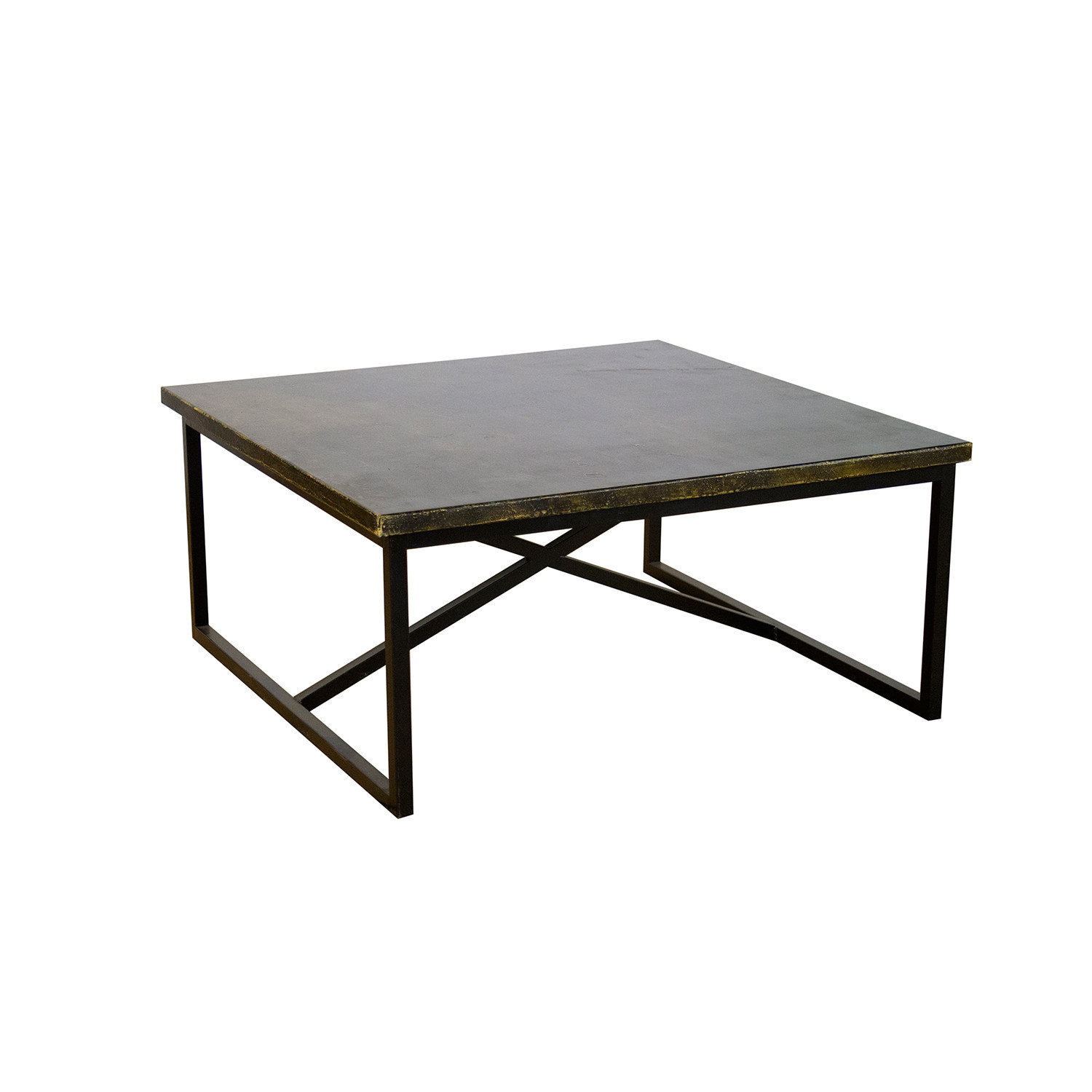Thomas Rustic Coffee Table With Steel Legs Madera Home Touch Of Modern