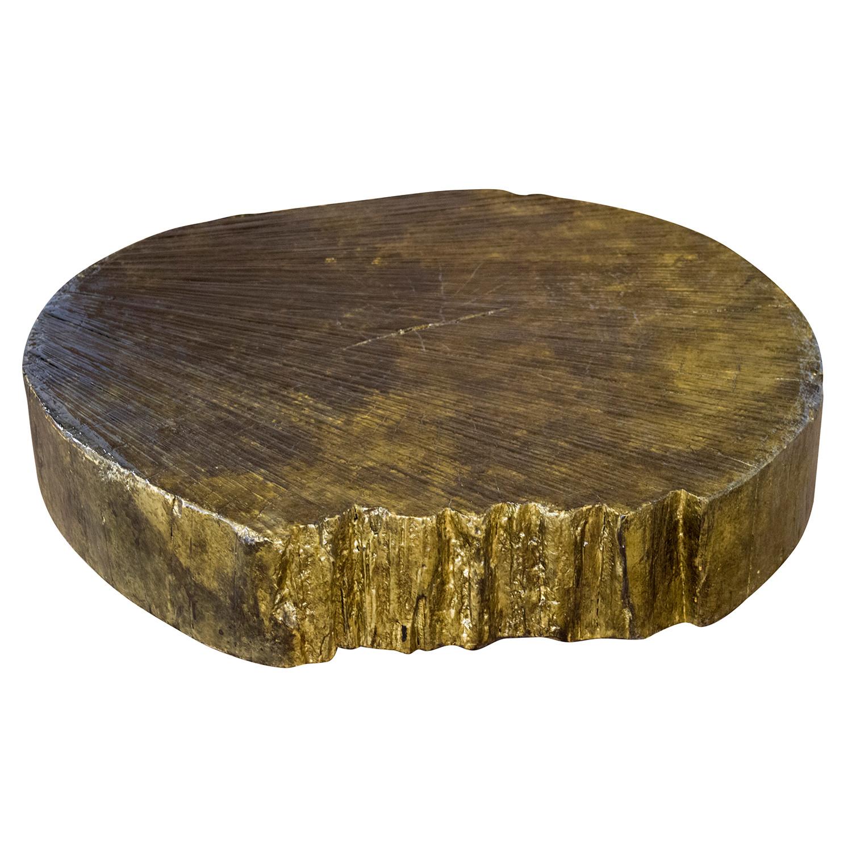 Live Edge Coffee Table Base: Tirian Rustic Live Edge Coffee Table With Steel Base