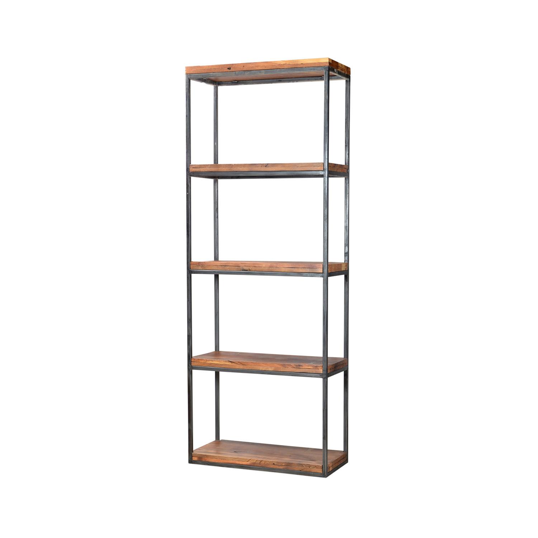 Reclaimed Thin Railwood Bookshelf Black