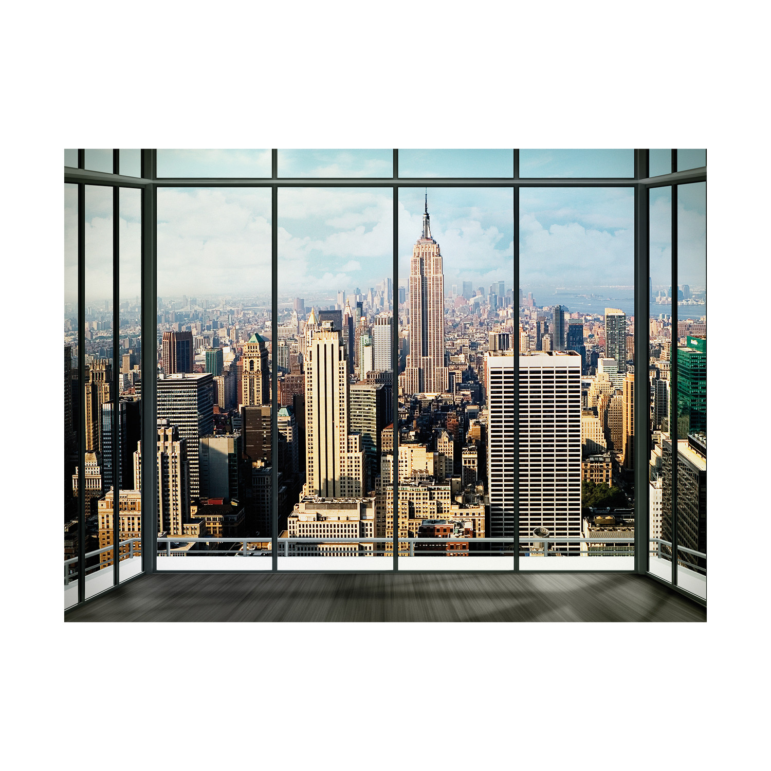 New york skyline window 1 wall murals touch of modern for Acheter poster mural new york