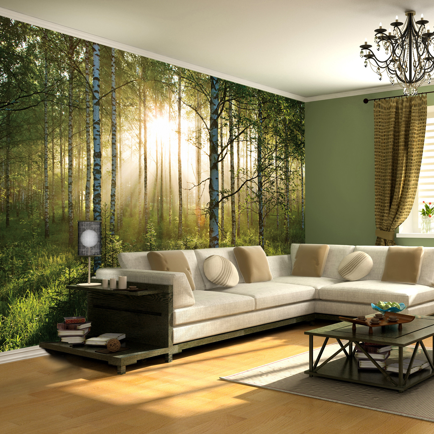 Forest scene 1 wall murals touch of modern for Wall scenes