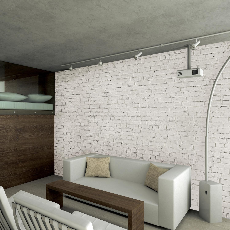 White Loft Brick Wall - 1 Wall Murals - Touch of Modern